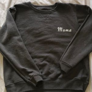 Mama crew neck - handmade